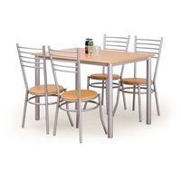 Zestaw HALMAR ELBERT stół + 4 krzesła