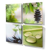 """Bonprix Komplet obrazów """"bali"""" (4 części)  zielony"""