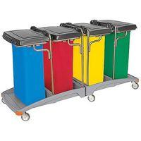 Splast Wózek na odpady 4 x 120 litrów tso-0014  (5907781421558)