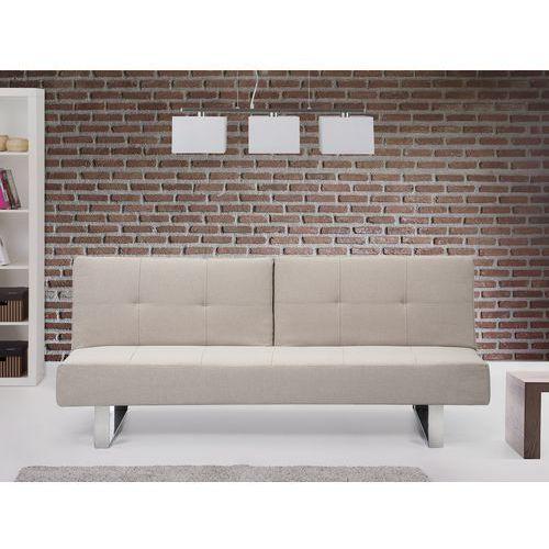 Sofa z funkcją spania jasnobeżowa - kanapa rozkładana - wersalka - DUBLIN - produkt z kategorii- sofy