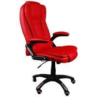 Fotel biurowy bruno czerwony z masażem marki Giosedio