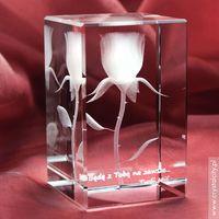 RÓŻA 3D Elegancji ♥ personalizowana statuetka 3D średnia • GRAWER 3D