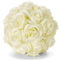 """Sztuczne kwiaty """"Białe róże"""" bonprix biały"""
