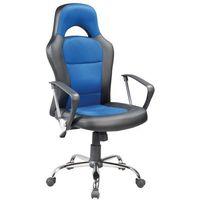 Fotel biurowy Q-033 czarny/nieb.