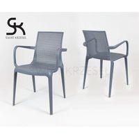 Sk design  kr031 szare krzesło z podłokietnikami polipropylen - szary