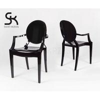 Sk design  kr001 cz czarne krzesło - czarny