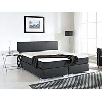 Łóżko kontynentalne 180x200 cm - łóżko tapicerowane - president czarne marki Beliani