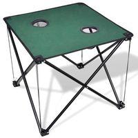 Vidaxl  składany stół kempingowy ciemno zielony