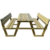 stół piknikowy z ławkami oparciem drewna sosnowego marki Vidaxl