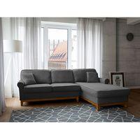 Narożnik ciemnoszary - kanapa - sofa - narożna - wypoczynek - NEXO