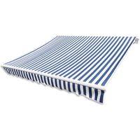 markiza przeciwsłoneczna biało-niebieskie płótno 6 x 3 m (bez stelażu) marki Vidaxl