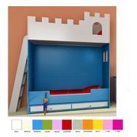 Łóżko piętrowe 180x90 zamek marki Babybest