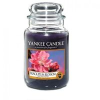 świeca zapachowa - duża - black plum blossoms marki Yankee candle