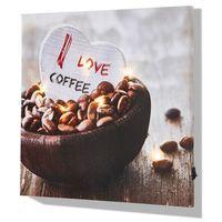 """Bonprix Obraz led """"coffee""""  brązowo-biały"""