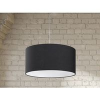 Beliani Lampa sufitowa wisząca - żyrandol czarna - oświetlenie - elbe
