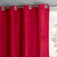 Zasłona z weluru bawełnianego z przelotkami wouri marki La redoute interieurs