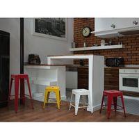 Beliani Hoker biały - taboret - do jadalni - stołek - 38x38x46 cm - cabrillo (7081453840170)