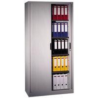 Metalowa szafa aktowa z drzwiami żaluzjowymi o wym.: 100x42x198 cm, 1-96134-001