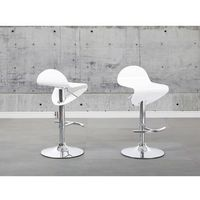 Beliani Hoker biały - hoker barowy - krzesło barowe - liverpool