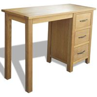 Vidaxl  biurko z 3 szufladami w kolorze dąb 106x40x75 cm