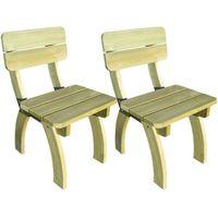 vidaXL Krzesła ogrodowe 2 szt Drewno sosnowe (8718475995784)