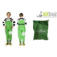 Wodery Spodniobuty Kalosze dla dzieci Sitbag - zielony