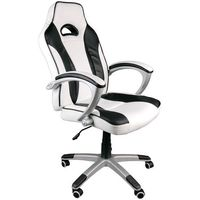 Giosedio Fotel biurowy caro biało-czarny
