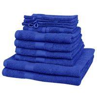 Vidaxl  kompletny zestaw ręczników bawełna 100% 500 gsm królewski błękit x12