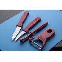 SSW Obieraki i noże kuchenne zestaw 4 sztuk - mix kolorów