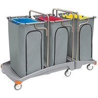 Wózek na odpady potrójny 3x120l tso-0011  marki Splast