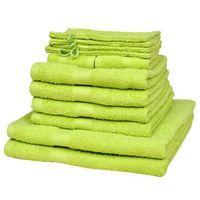 Vidaxl  zestaw ręczników w kolorze zielone jabłuszko bawełna 100% 500 gsm x12 (8718475924722)