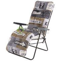 Fotel ogrodowy leżak MALAGA PLUS szary
