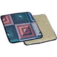 Poduszka wełniana na siedzisko z magnesami Merino, patchwork