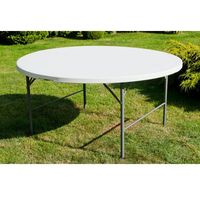 Edomator.pl Stół cateringowy okrągły składany 154 cm biały - 160 cm