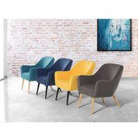 Fotel żółty - wypoczynkowy - do salonu - tapicerowany - LOKEN (7081456547410)