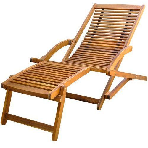 Gdzie kupić leżak z podnóżkiem, drewno akacjowe marki Vidaxl