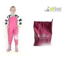 Sitbag Wodery spodniobuty kalosze dla dzieci  - dł stopy: 14,2cm ( rozmiar 20-21) ||różowy