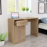 Vidaxl  biurko z szufladą i szafką w kolorze dąb 100x40x73 cm (8718475977322)