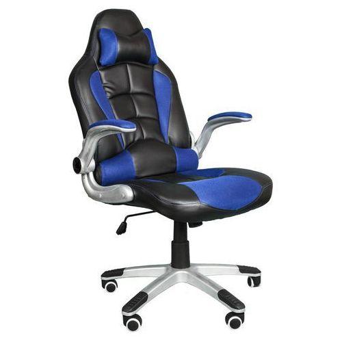 Fotel biurowy BST048 czarno-niebieski - oferta [b5ddd9a8bf5337e8]