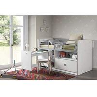 Łóżko piętrowe dla dzieci bonny bis wit z biurkiem marki Vipack