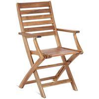 Home&garden Krzesło ogrodowe drewniane składane akacja cross (5904730242295)