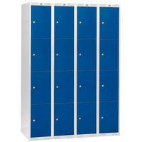Aj Szafki osobiste 4 sekcje po 4 skrytki w pionie kolor drzwi: niebieski
