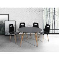 Stół do kuchni czarny- 120 cm - stół do jadalni lub salonu - bovio marki Beliani