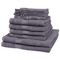 vidaXL Kompletny zestaw antracytowych ręczników Bawełna 100% 500 gsm x12