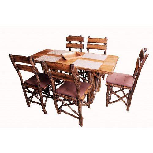 Zestaw stół dębowy + krzesła dębowe RUSTICA, 4804-33551