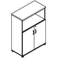 Svenbox Regał częściowo zamknięty h34 wymiary: 80,2x38,5x112,9 cm